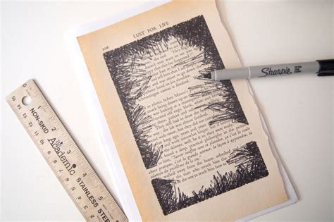 diy turn book pages into artwork