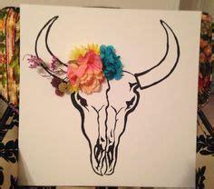 awesome flowery crown u0026 skull cow skull w flowers tattoos cow skulls