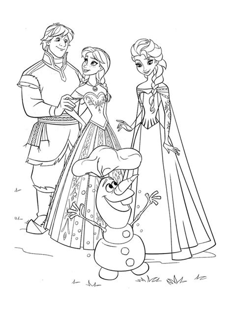 free coloring pages of elsa y ana