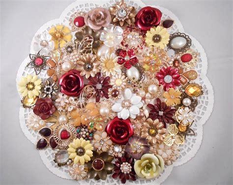 Flower Wedding Kits by Enamel Flower Brooch Bouquet Kit 65 Pc Autumn Mist Diy