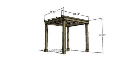 Free Woodworking Plans To Build A Modern Classic Pergola Average Height Of A Pergola