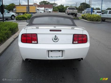 2007 mustang gt performance specs 2007 performance white ford mustang gt cs california
