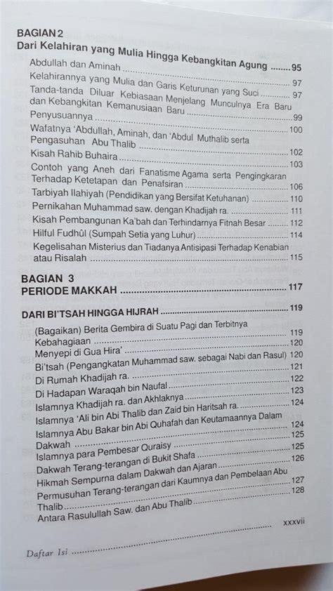 Sirah Nabawiyah 4 buku sirah nabawiyah sejarah lengkap nabi muhammad