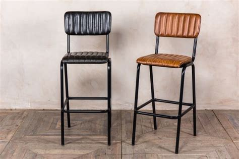 Leather Breakfast Bar Stools by Leather Breakfast Bar Stools Peppermill Interiors