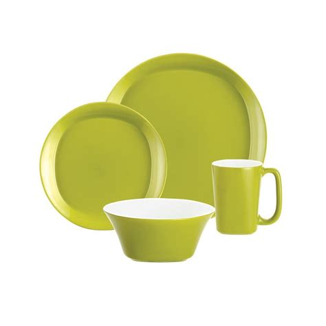Set Apple Green rachael and square 16 dinnerware set in