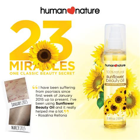 sunflower oil hair products sunflower beauty oil human nature singapore cosmetics