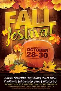 Fall Festival Flyer Templates Free by Fall Festival Flyer Template For Photoshop Awesomeflyer