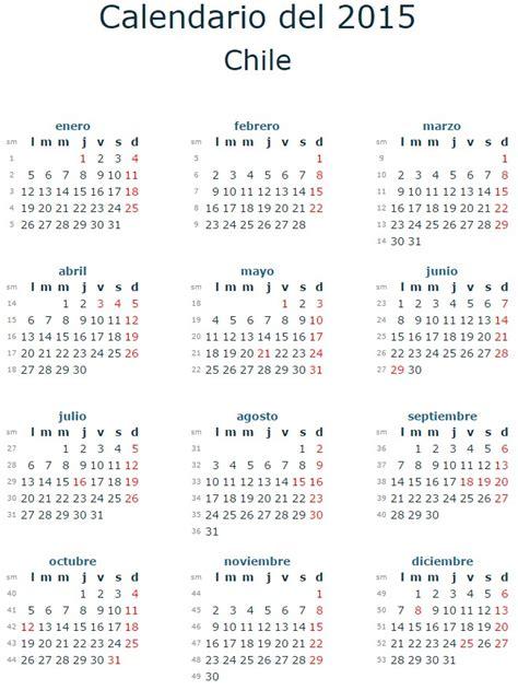Calendario 2016 Chile Calendario 2015 Feriados Chile Calendar Template 2016