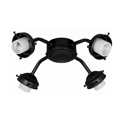 Black Ceiling Fan With Light Kit by Shop 4 Light Matte Black Ceiling Fan Light Kit With