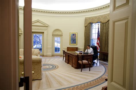 what does the oval office look like today file barack obama in the oval office view from the west