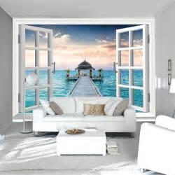 aliexpress com buy 3d window wall mural ocean photo wall scenery murals desktop image
