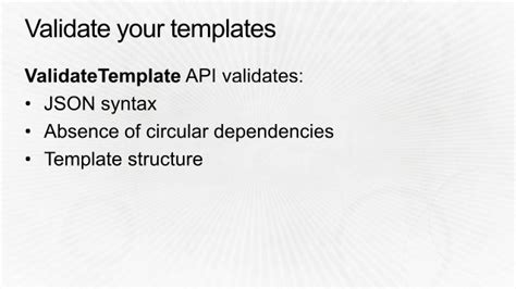 App304 Aws Cloudformation Best Practices Aws Re Invent 2014 Aws Cloudformation Validate Template