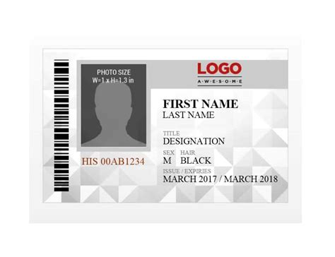 Id Card Templates by 50 Id Badge Id Card Templates Free Template Archive
