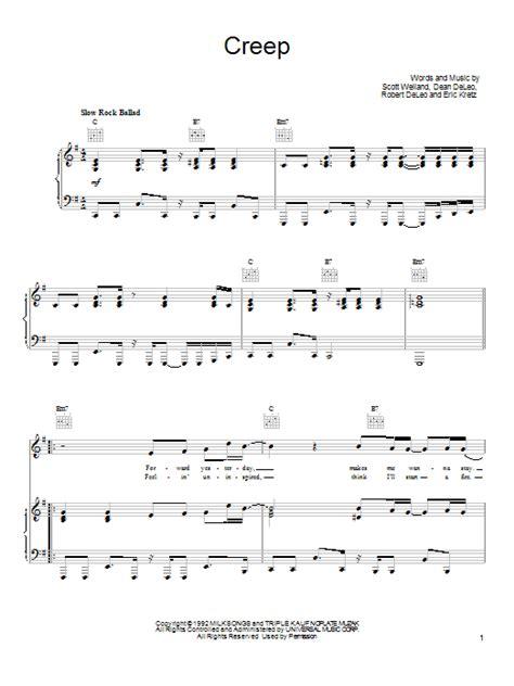 tutorial piano creep stone temple pilots creep piano vocal guitar right