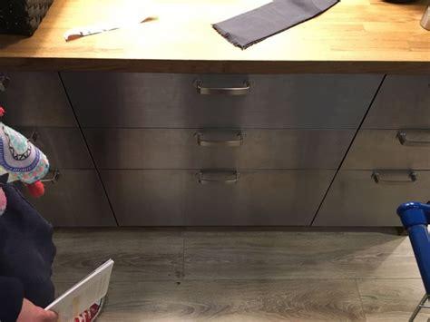 ikea kitchen island stainless steel roselawnlutheran ikea metod grevsta stainless steel island oak worktop