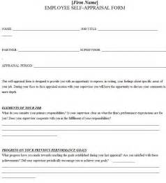 Employee Self Appraisal Form Template by Employee Self Appraisal Form