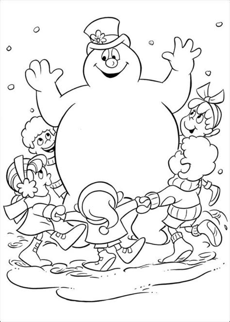 Frosty The Snowman Coloring Page free printable frosty the snowman coloring pages best