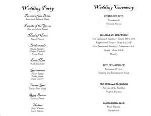 Wedding Programs Templates by Wedding Program Templates Wedding Programs Fast