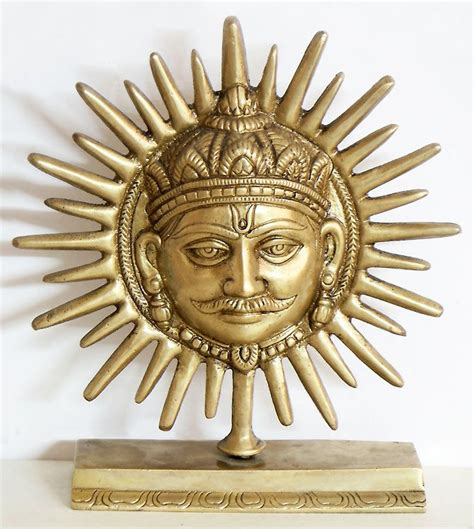 sun sculpture sun god on stand