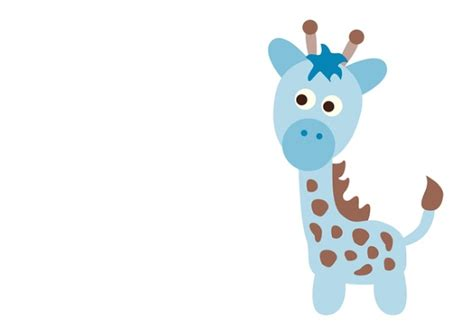 blue baby shower giraffe clip