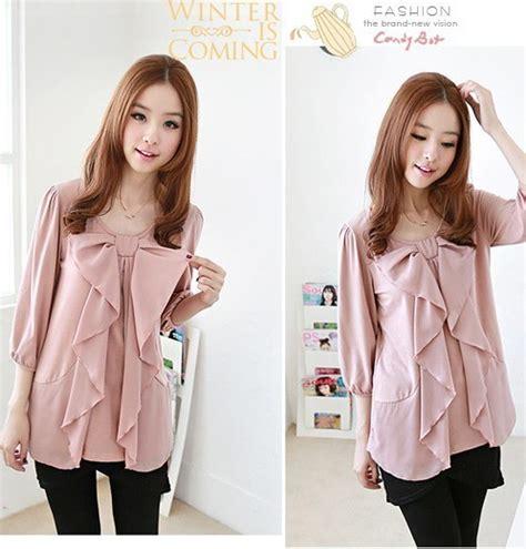 Blouse Import Murah A30717 Pink blouse wanita import cantik pink model terbaru jual