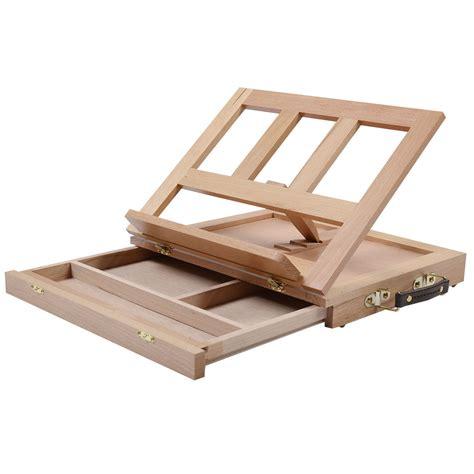 easel desk folding portable artist desk easel wood multi