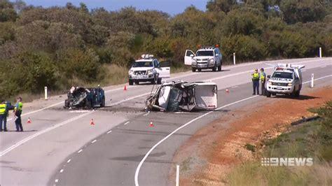 perth news car crash and child killed in on crash in breton bay of perth