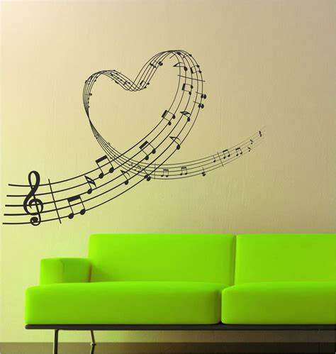 music wallpaper for walls uk music love heart notes wall art sticker decal graphic