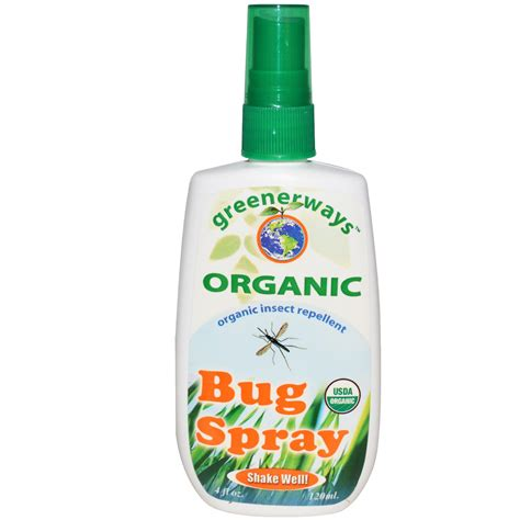spray for bed bugs greenerways bug spray organic insect repellent 4 fl oz 120 ml iherb com