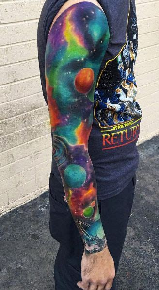 galaxy sleeve tattoo designs 60 creative and cool cosmic designs tattoos on