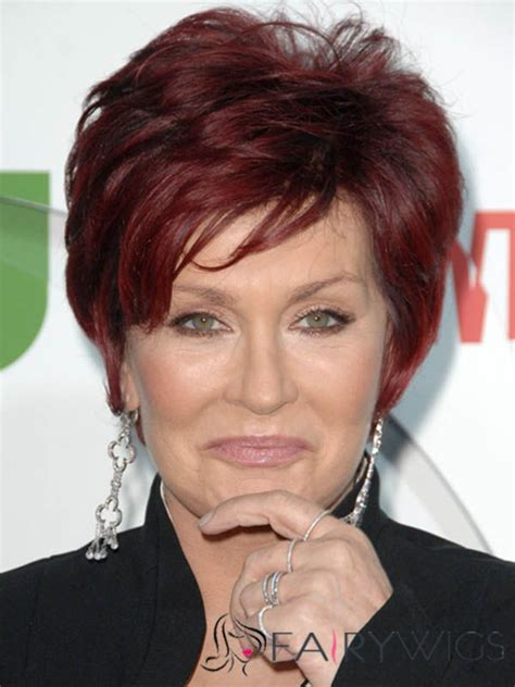 back view of osbourne haircut excellent sharon osbourne hairstyle short wavy capless