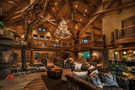 Log Cabin Themed Home Decor Lodge Style Living Rocky Mountain Homes