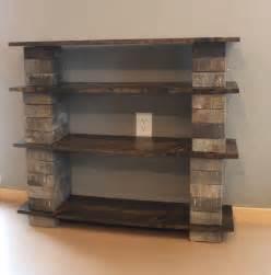 Diy Wood Bookcase Block And Wood Diy Bookshelf Manteresting