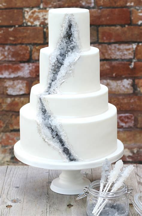 Rocks For Cake Decorating by A Geode Wedding Cake A Rock Recipe Sugared