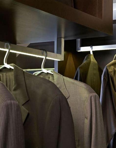 Closet Rod Light by Led Light Integrated Closet Rods Spaces Closets