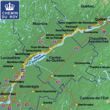 le mythique chemin du roy entre montreal  quebec