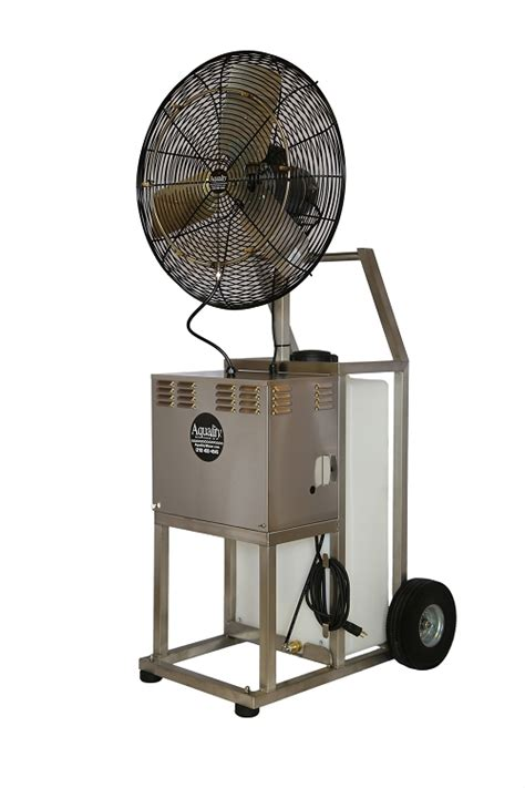portable misting fans with tank port a chill stainless steel 20 gallon portable