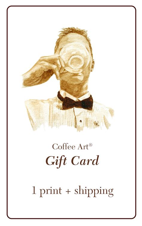 Gift Card Art - gift card for coffee art 16 coffee art