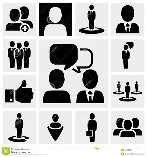 Vector Business Icons Set Royalty Free Stock Photos Image 1095468 Business Vector Icons Set On Gray Stock Vector Illustration Of Holding Pictogram 33973013