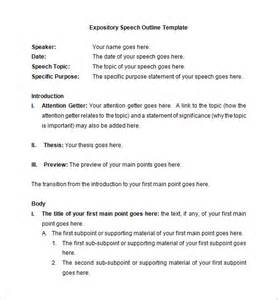 template for a speech speech outline template 32 free pdf word documents