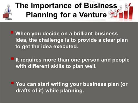 The Importance Of In Peoples Essay by The Importance Of Business Planning For A Venture Ppt