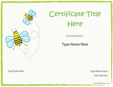 certificate templates for children blank certificate blank certificate template for