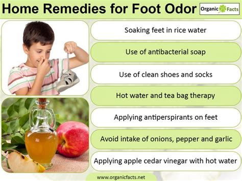 8 surprising home remedies for foot odor organic facts