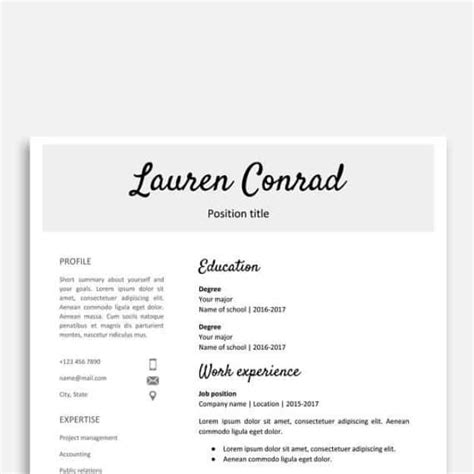 29 Google Docs Resume Template To Ace Your Next Interview Handwritten Resume Template