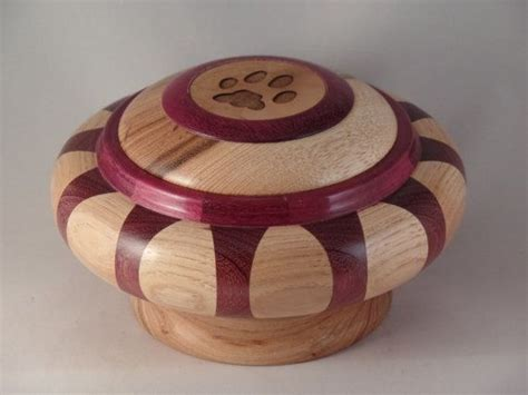 purple heart hickory pet urn  myinspirationsinwood