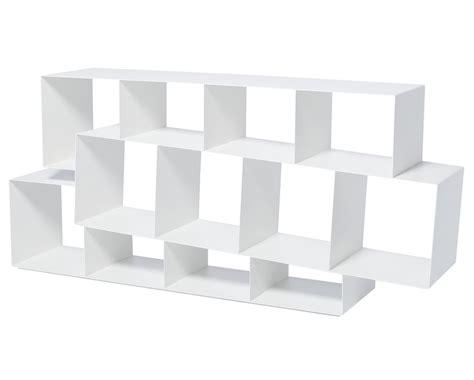 horizontal bookcase white squilibri bookcase asymmetrical horizontal bookcase