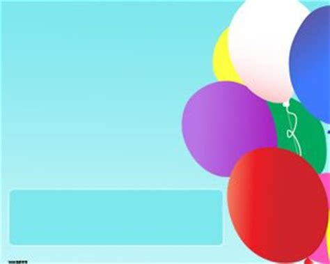 Free Colorful Balloons Powerpoint Template Birthday Powerpoint Templates