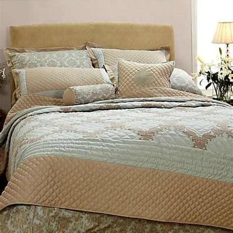 sage coverlet quint damask coverlet set in sage www bedbathandbeyond com