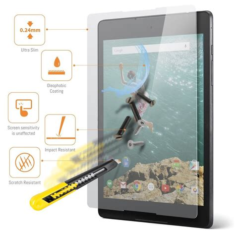 orzly tempered glass screen protector nexus 9