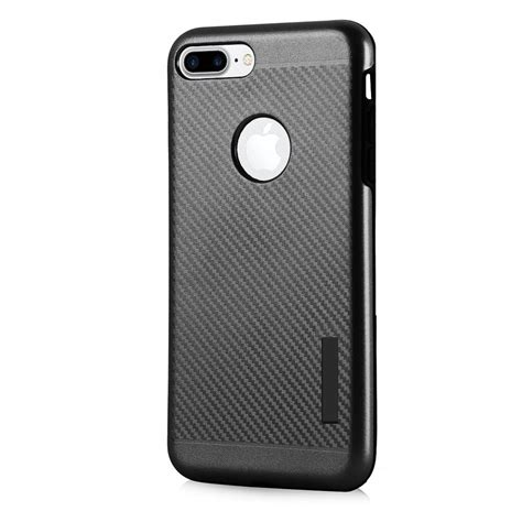 Hardccase Casing Rugged Carbon Cover Soft Iphone X Apple Ringstand carbon slim armor hybrid rugged cover with built in magnetic metal plate for iphone 7 plus
